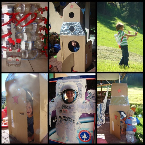 Rocket and astronaut party