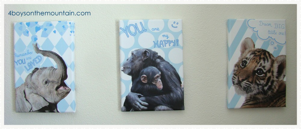 Animals quotes nursery poster