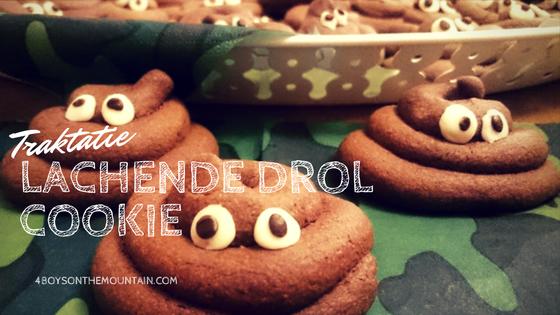 Lachende drol cookie emoji - Recept voor koekjes (Traktatie)